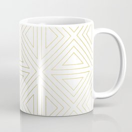 Angled White Gold Coffee Mug