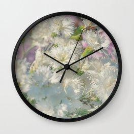 Cloves Flowers Wall Clock