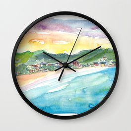 Caribbean Dreams In Philippsburg St Maarten Great Bay Beach Wall Clock