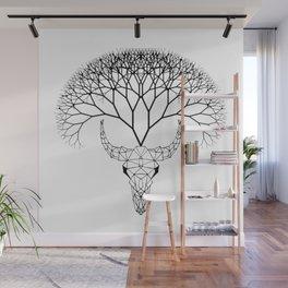 Bull Tree Wall Mural