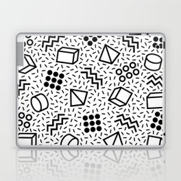Abstract Memphis Style Pattern Black and White 2 Laptop & iPad Skin