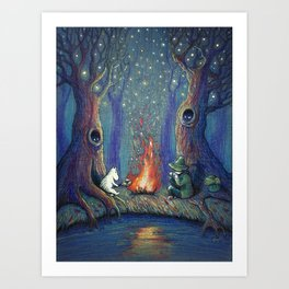 Moomin's night Art Print
