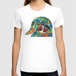 Colorful Wood Duck Art by Sharon Cummings T-shirt