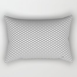 White Diamond Pattern Rectangular Pillow