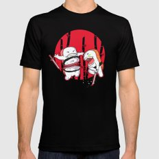 Sushi Slash Mens Fitted Tee Black LARGE