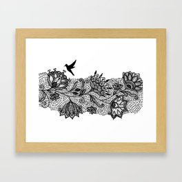 The lace Framed Art Print