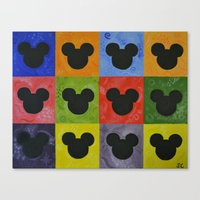 mickey Canvas Prints featuring Mickey by Sierra Christy Art