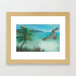 Belle's Journey: Island Hopping Framed Art Print