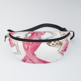 Sabrina Fuschia Pink Red Fashion Fanny Pack