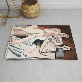 Pablo Picasso, Homme et Femme 1921 Artwork for Wall Art, Prints, Posters, Tshirts, Men, Women, Kids Rug