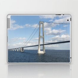 Suspension bridge Great Belt Denmark connecting the Zealand and Funen Laptop & iPad Skin