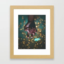 Black rose of Calcutta Framed Art Print