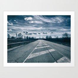 The road toward the power plant Art Print