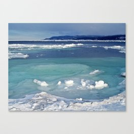 Snow and Ice pool Canvas Print