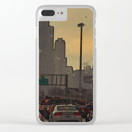 Friday Night Traffic #4 Clear iPhone Case