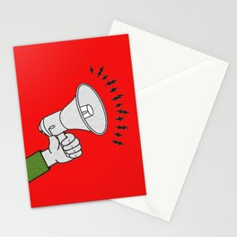 Megaphone propaganda Stationery Cards
