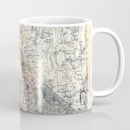 Map of California [and Nevada] 1876 Coffee Mug