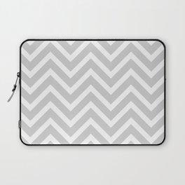 Chevron Stripes : Gray & White Laptop Sleeve