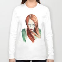 ginger Long Sleeve T-shirts featuring Ginger by Roxie Emm
