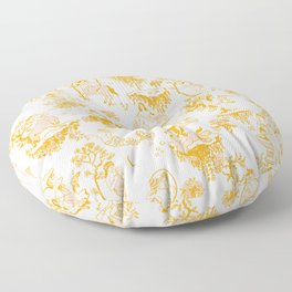 Astrology-Inspired Zodiac Gold Toile Pattern Floor Pillow