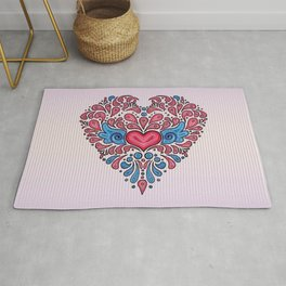 Hearts unfolding Rug