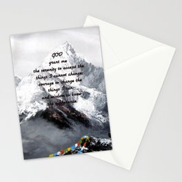 Serenity Prayer With Panoramic View Of Everest Mountain Stationery Cards