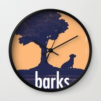 parks and rec Wall Clocks featuring Barks and Rec Logo by barksandrec
