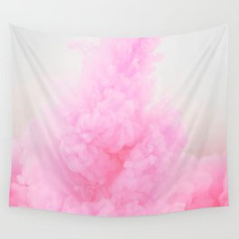 Pastel pink smoke Wall Tapestry