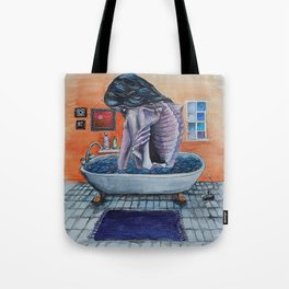 Bathtub Girl Tote Bag