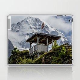 Swiss Observation Tower and Monch (Monk) Mountain - Lauterbrunnen Laptop & iPad Skin