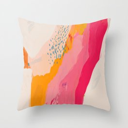 Abstract Line Shades Throw Pillow