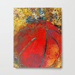 Basketball art 14 Metal Print