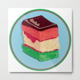 Rainbow Cookie Metal Print