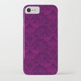Stegosaurus Lace - Purple iPhone Case