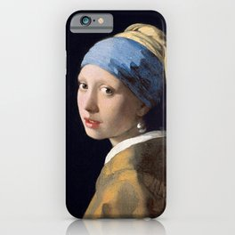 GIRL WITH A PEARL EARRING - JOHANNES VERMEER iPhone Case