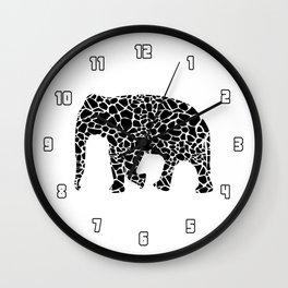 Elephant with giraffe print Wall Clock