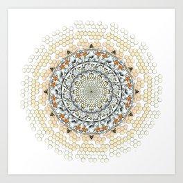 Overlapping Bee Mandala (Color) Art Print