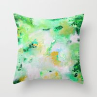 monet Throw Pillows featuring Monet by acrylikate