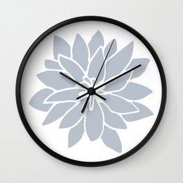 Flower Bluebell Blue on White Wall Clock