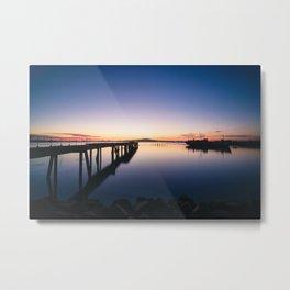 Sunset at Montevideo bay Metal Print