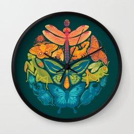 Bugs & Butterflies 2 Wall Clock