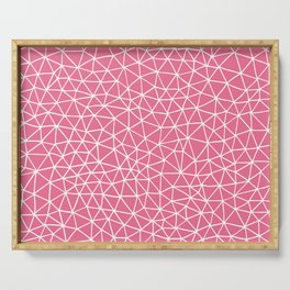Connectivity - White on Pink Serving Tray
