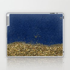 Dipped in Gold, Navy Laptop & iPad Skin