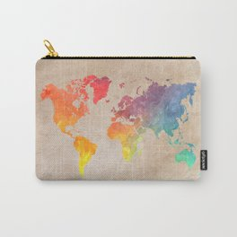 World Map Maps #map #maps #world Carry-All Pouch