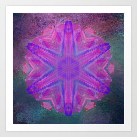 Jeweled splendor in vibrant pink Art Print