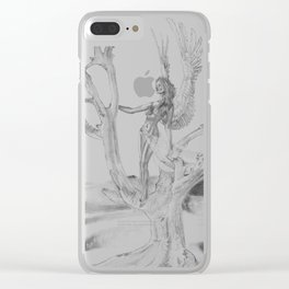 Desert Tree Clear iPhone Case