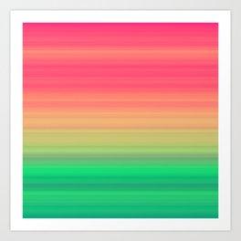 Tropical stripes Summer pattern Art Print