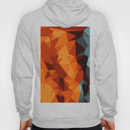 green blue brown orange and yellow abstract background Hoody