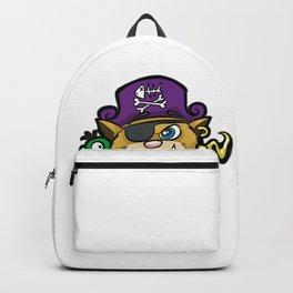 PURRATES Pirate Cat Buccaneer Sea Robber Comic Backpack