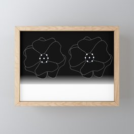 Lillies Considered In Pure Black and White Framed Mini Art Print